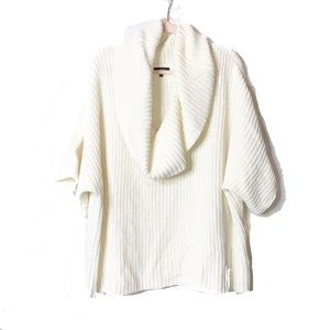 Express | Cream Oversized Cowl Neck Sweater | S